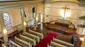 Der kirchenraum der kreuzkirche von der empore seitlich