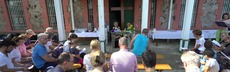 Gottesdienst auf der burgazada prinzeninsel im marmara meer bei istanbul